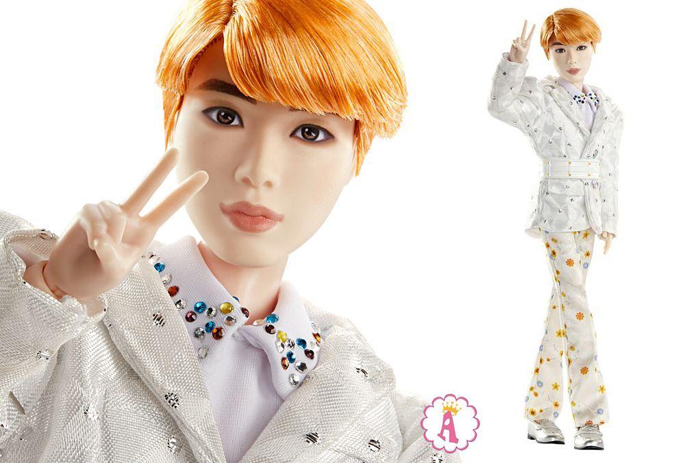 Кукла с рыжими волосами Чин певец Jin BTS Prestige doll