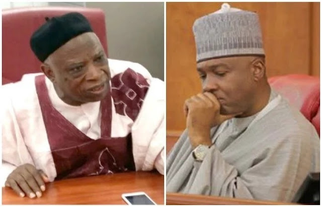 Image result for Adamu attacking me to save self from EFCC – Saraki