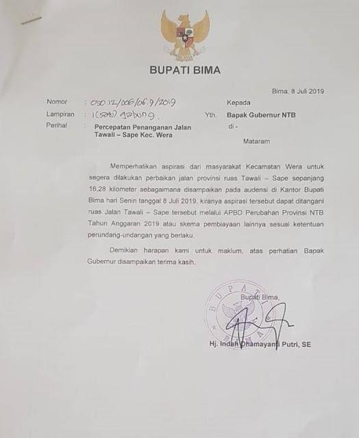 surat_bupati_penanganan_jalan_wera_sape