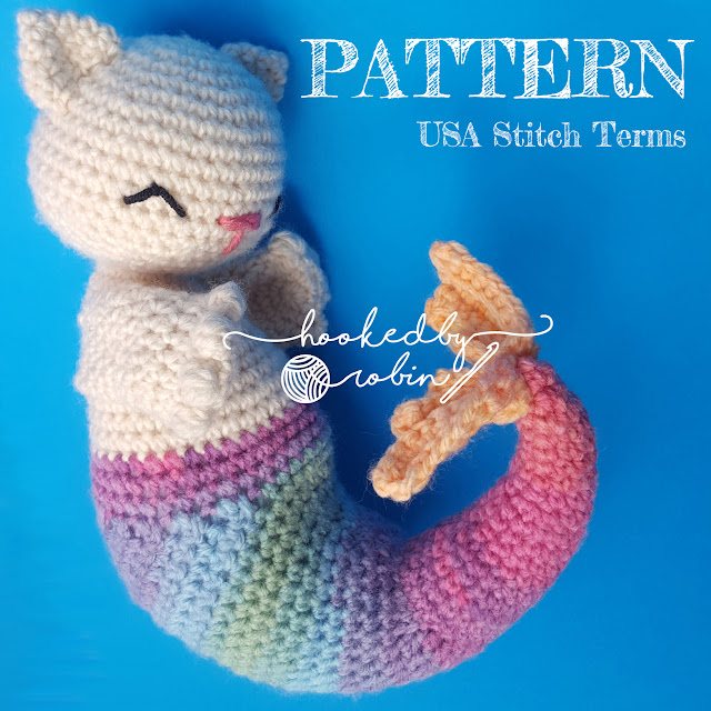 Crochet amigurumi purrmaid pattern FREE