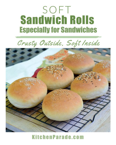 Soft Sandwich Rolls (NOLA-Style French Rolls) ♥ KitchenParade.com, soft insides with crispy crust perfect for sandwiches of all shapes and sizes, even from the same batch.