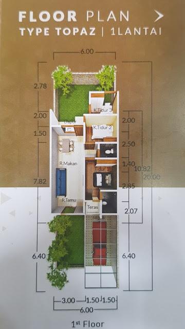 Floor Plan Rumah Murah 400 Jutaan Luas Tanah 120 m2 Di Karya Dharma Mansion Medan Johor Medan Sumatera Utara