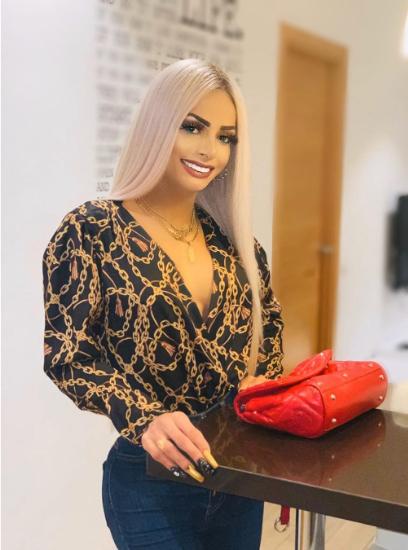 Transgender with platinum hair