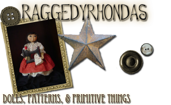 Raggedy Rhondas Dolls-Patterns-Paintings