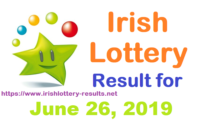 Irish Lottery Results for Wednesday, June 26, 2019