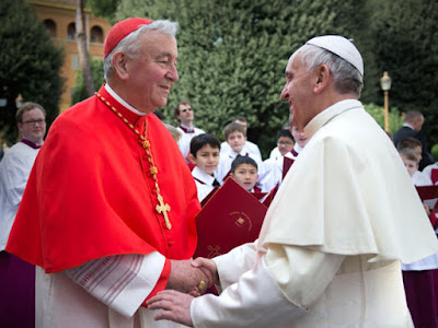 Pope Francis and Vincent Nichols