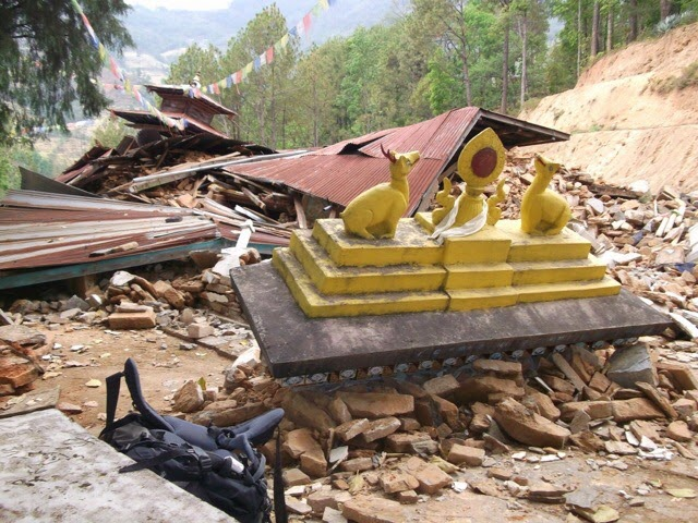 Temple in Sundhupalchowk destroyed by earthquake