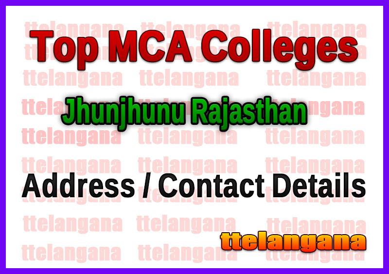 Top MCA Colleges in Jhunjhunu Rajasthan