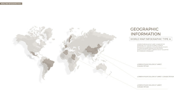 Infographic World Map by country in Powerpoint Slide1