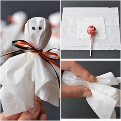 Decorar los chupa chups para fiesta de niños en Halloween