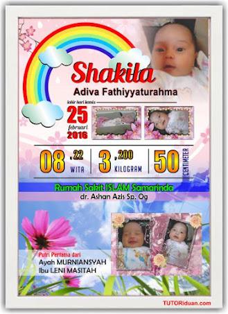 Desain Biodata Kelahiran Anak CorelDraw (Free CDR ...