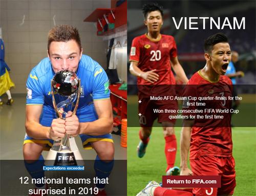ĐT Việt Nam lọt top 12 đội bóng gây bất ngờ nhất năm 2019
