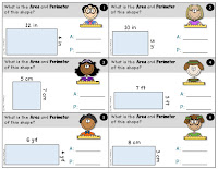 3 Sets of Area and Perimeter Task Cards
