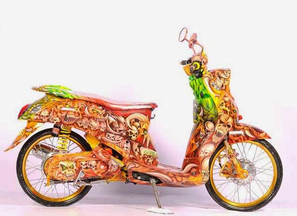 Modifikasi Sepeda Motor Matic