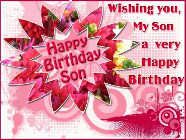 Warm Birthday Wishes for Son with Images