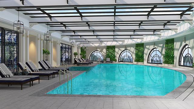 Bể bơi bốn mùa sang trọng tại Louis City