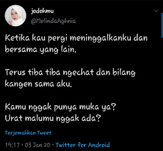 Selb tweet wanita yang terkenal rendah hati di twitter