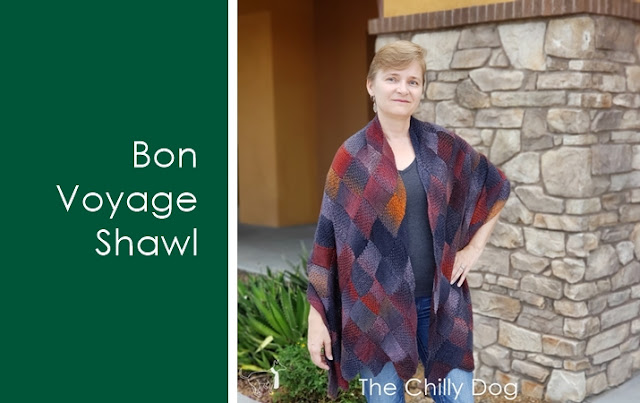 Bon Voyage Entrelac Shawl Pattern - Learn new skills while you knit: Reverse Knitting, Base Rectangles, LH Triangles, RS Rectangles, RH Triangles, WS Rectangles, End Rectangles
