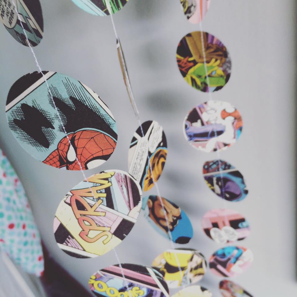 Spiderman Comic paper garlands