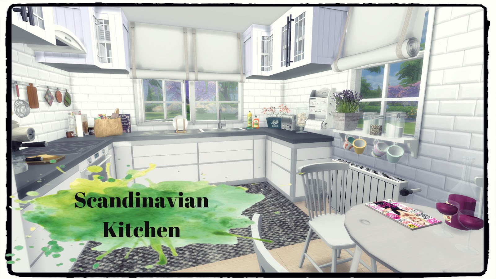 sims 4 scandinavian kitchen dinha
