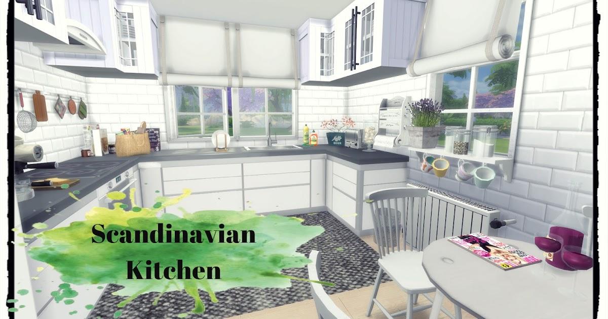 Sims 4 scandinavian kitchen dinha for Kitchen set scandinavian