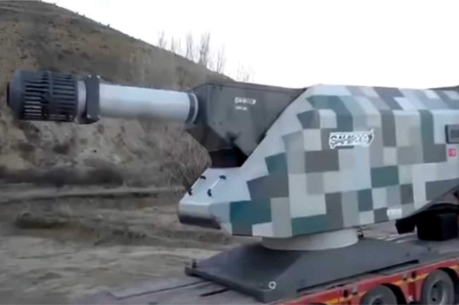 Tes tembakan railgun raksasa Turki