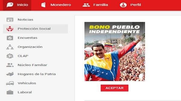Pendiente! Continua asignación del Bono Pueblo Independiente