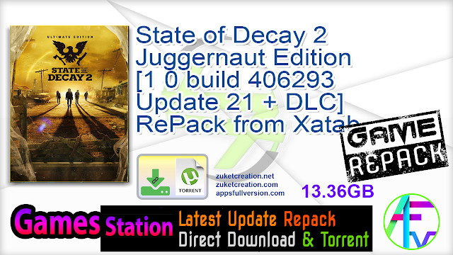 State of Decay 2 Juggernaut Edition [1 0 build 406293 Update 21 + DLC] RePack from Xatab