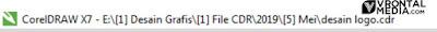 fungsi title bar pada corel draw