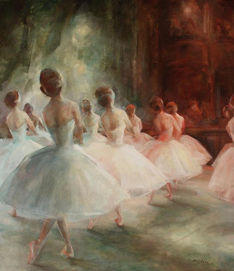 """Ballet Dancers"" by Miloslava Vrbova-Stefkova"