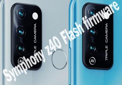 Symphony z40 Flash firmware Stock Rom
