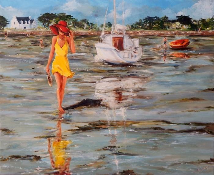 Женщина в желтом. Marie-Laure Souq