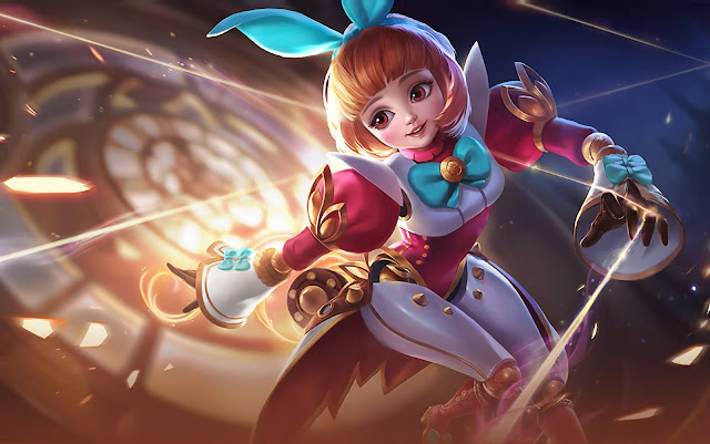 Angela Bunnylove Heroes Support of Skins Mobile Legends Wallpaper HD for PC