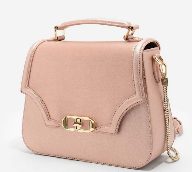 Cartable rose gold Charles & Keith
