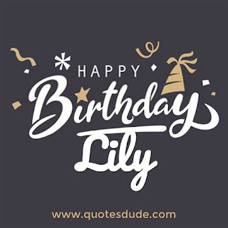 Happy Birthday Lily Message, Quotes & Cake Images