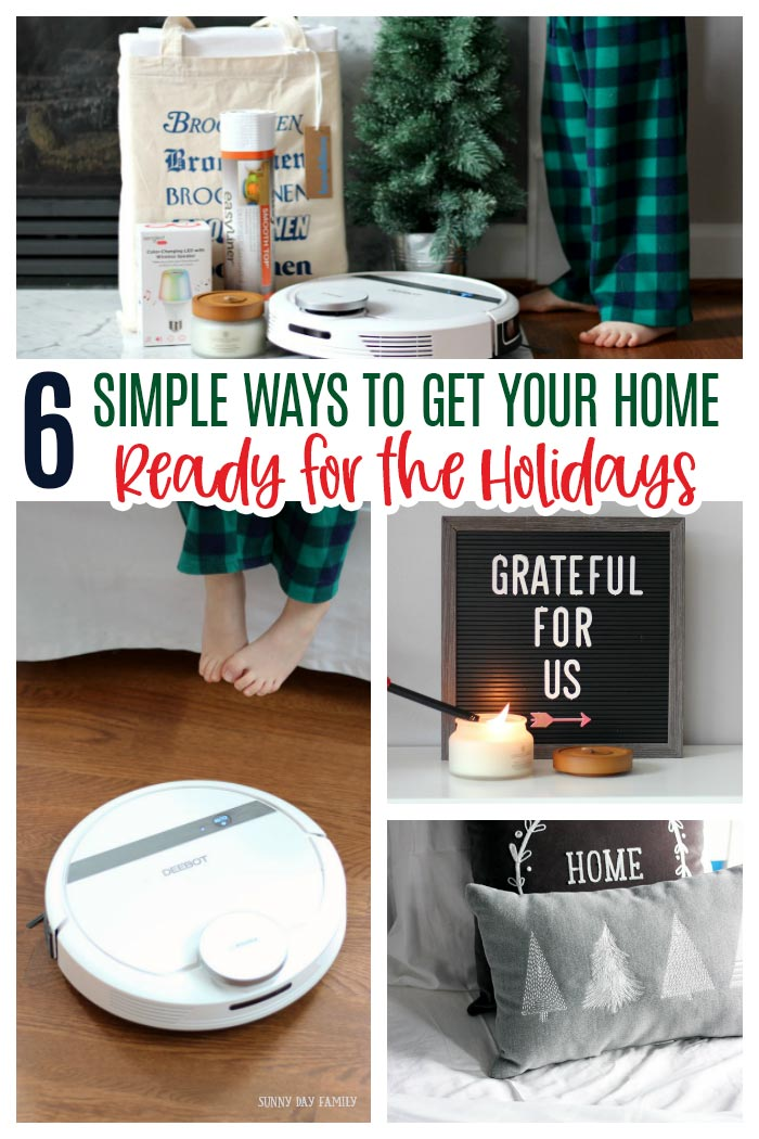 Get your home ready for the holidays with these essentials! Everything you need to get your house holiday ready including cleaning tips, holiday decor, and more. #ad #HomeHolidayBBoxx #home #Christmas #holiday
