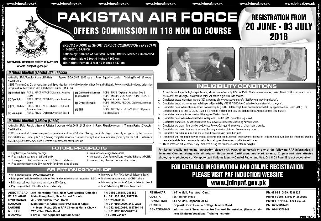 Medical Specialist & GDMO's Commission Jobs 2016 in Pakistan