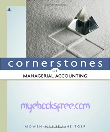 Cornerstones of Managerial Accounting Pdf Download