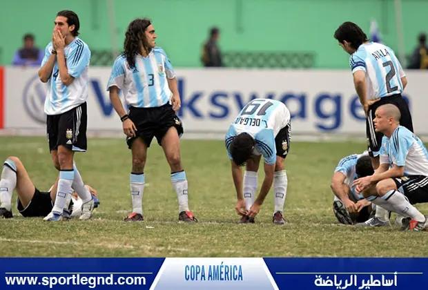المنتخب الأرجنتيني وصيف كوبا أمريكا 2004