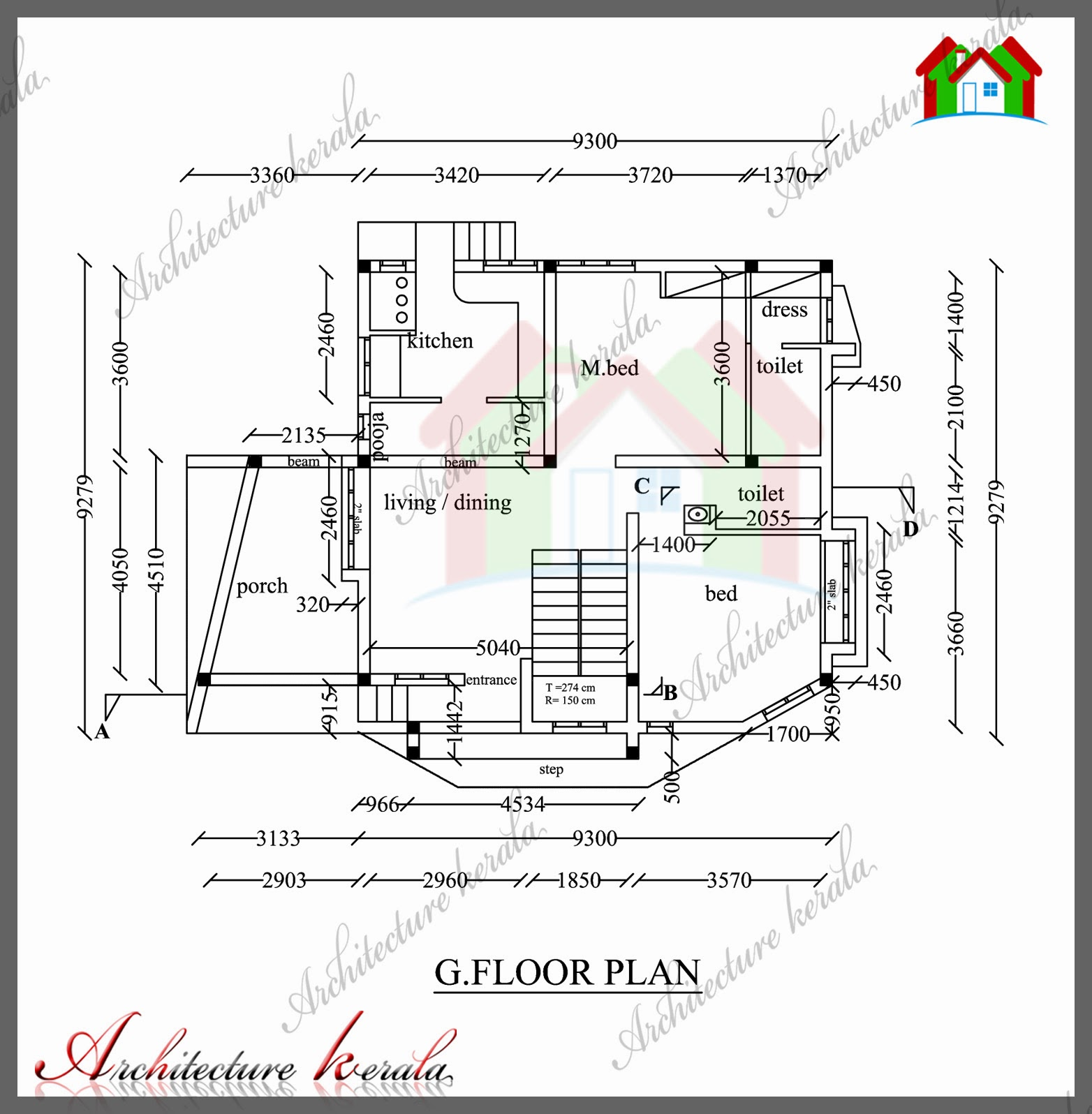 1200 Square Foot Floor Plans 1800 Sq Ft House Plan With Detail Dimensions