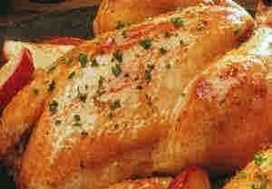 دجاج مشوى بالليمون والثوم