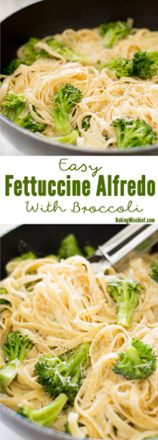 Easy Fettuccine Alfredo With Broccoli