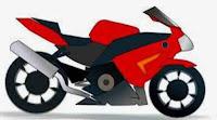 sepeda motor kartun