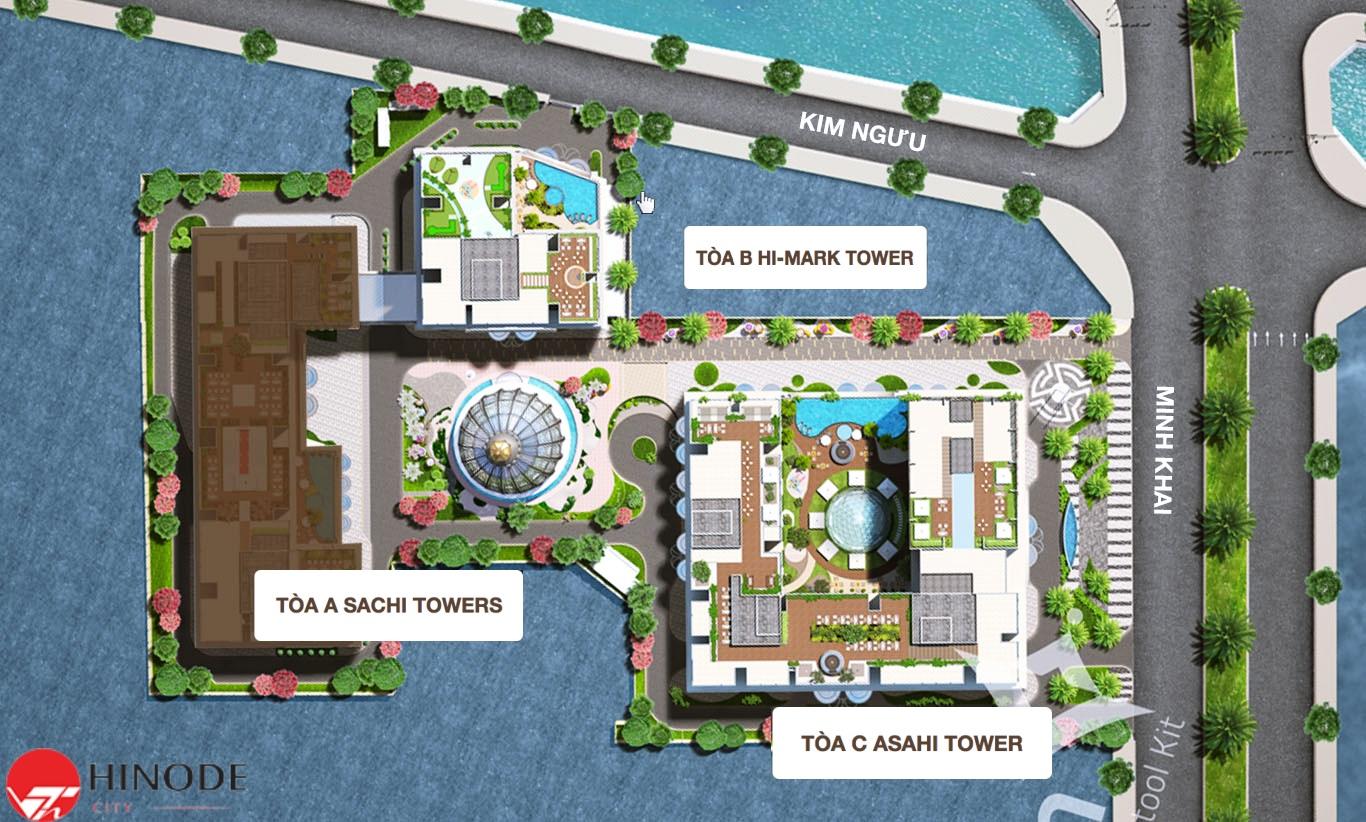 Quy mô phân khu dự án Hinode City
