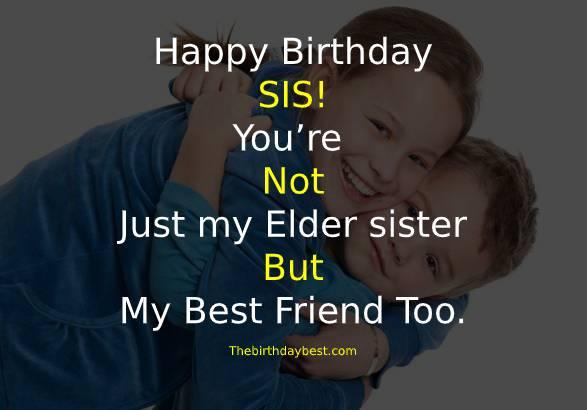 Birthday Wishes for Elder Sis
