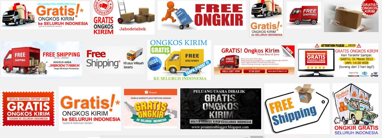 Kumpulan Toko Online Indonesia Gratis Ongkos Kirim