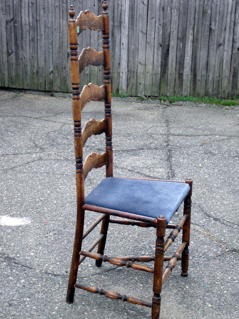 Number FiftyThree Quick Antique Ladder Back Chair Makeover