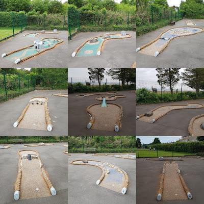 Crazy Golf course at Promenade Recreation Park in Grange-over-Sands