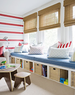 For a kid who loves to read, a window seat provides storage AND a cozy, sunny nook to curl up in