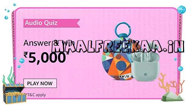 Amazon Audio Quiz Contest Answer & Win